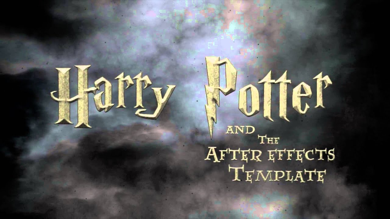 Simple Harry Potter Intro [Free After Effects Template] - YouTube