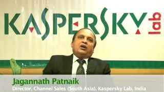 Jagannath Patnaik , Director Channel Sales, Kaspersky Lab giving message for STC to Subi Chaturvedi