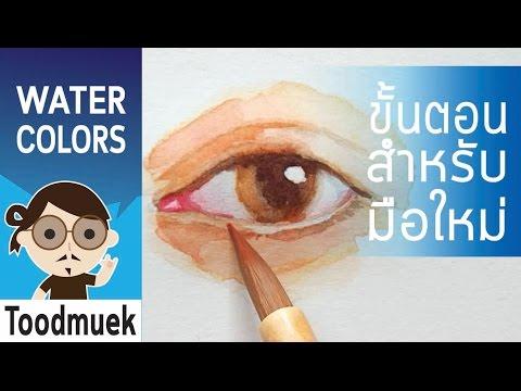 นายตูดหมึก สอนวาดรูป สีน้ำ ep 4 | วิธีวาดรูปดวงตา | How to painting eye watercolors