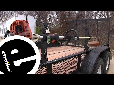 Pack Em Open Utility Trailer Trimmer Rack Review - etrailer.com