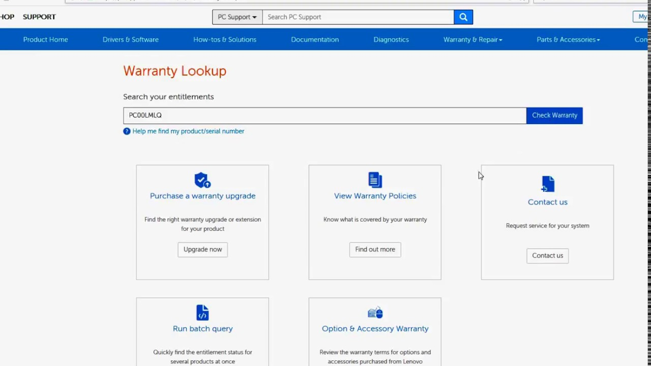 How To Check for LENOVO Warranty Status