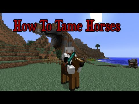 How to Tame Horse Mocreatures | 1 4 6/1 2 5 Minecraft flying horses Pegasus  werewolves and more