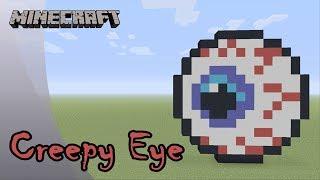Minecraft: Pixel Art Tutorial: Creepy Bloodshot Eye