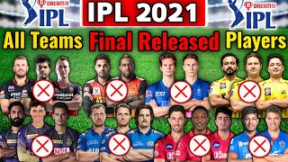 IPL 2021 All Teams Final & Confirmed Released Players List | All Teams Released Players List 2021