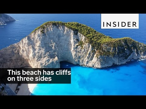 This stunning hidden beach is surrounded by cliffs on three sides