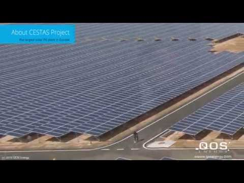CESTAS solar PV plant | largest solar PV plant in Europe - 300 MWp