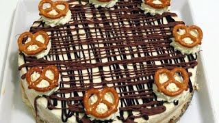 No Bake Caramel Pretzel Cheesecake | Cupcakegirl