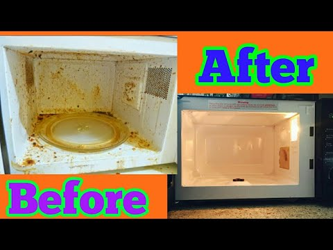 DIY HOW TO EASILY CLEAN MICROWAVE | MICROWAVE CLEANING ROUTINE | EAT MICROWAVE CLEANING | FoodyMomm
