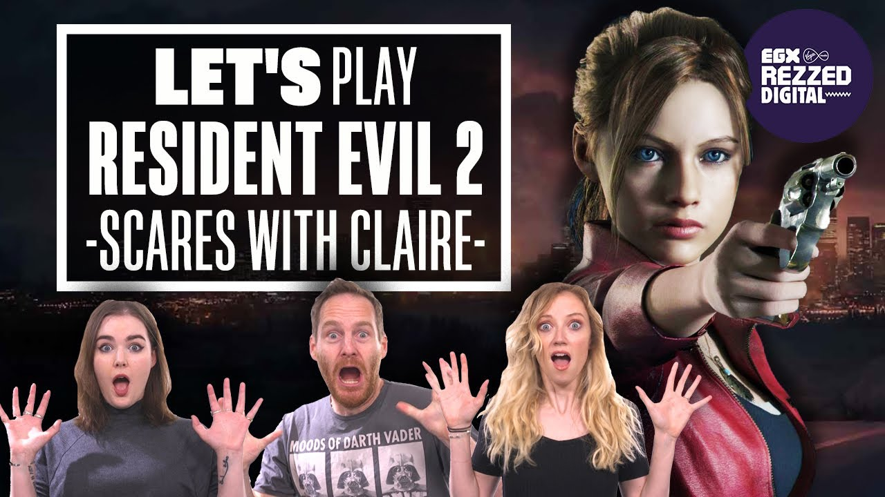 Let's Play Resident Evil 2: SCARES WITH CLAIRE - Rezzed Digital 2020 - Eurogamer