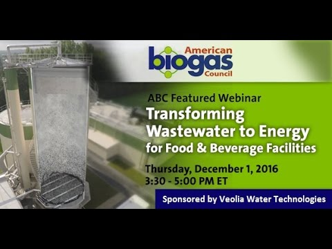 Transforming Wastewater to Energy for Food and Beverage Faci