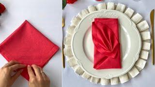 Сложить салфетки красиво и быстро   How to fold napkins