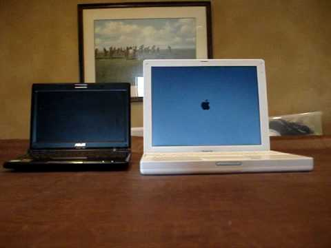 apple ibook g4 12 vs asus eeepc 900 8 youtube. Black Bedroom Furniture Sets. Home Design Ideas
