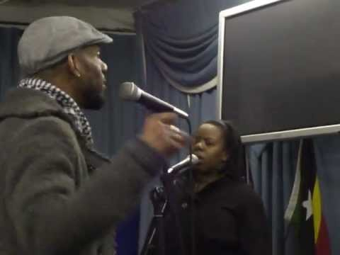 Clive Brown and 3 of the Shekinah Singers - rehearsal - part 2
