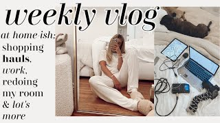 week in my life: lot's of shopping hauls, podcast guests, and more at home!