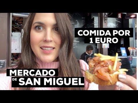 PROBANDO COMIDA BARATA DEL MERCADO MAS FAMOSO DE MADRID / MERCADO DE SAN MIGUEL - ANDREALAYON