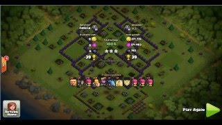 Clash Of Clans- mantap !!! Hanya dngan giant12 buah base th 8 rata 100% , mantap !!!