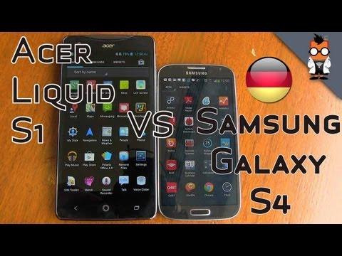 Acer Liquid S1 vergleich mit Samsung Galaxy S4 - Computex 2013
