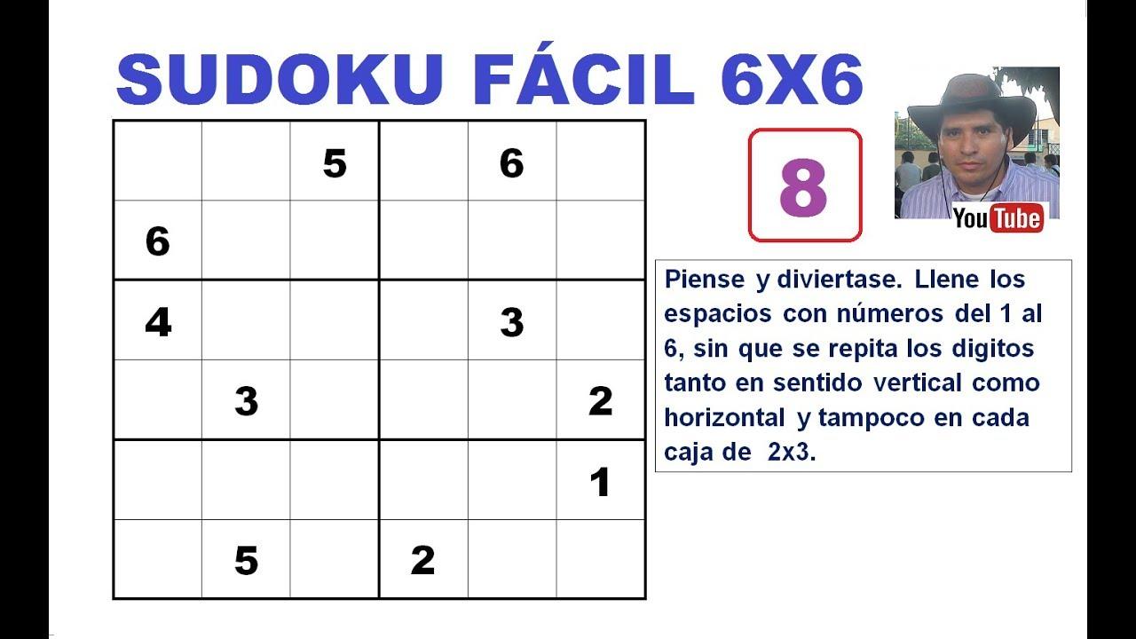 8 Cómo Resolver Un Sudoku De 6x6 Nivel Fácil Youtube