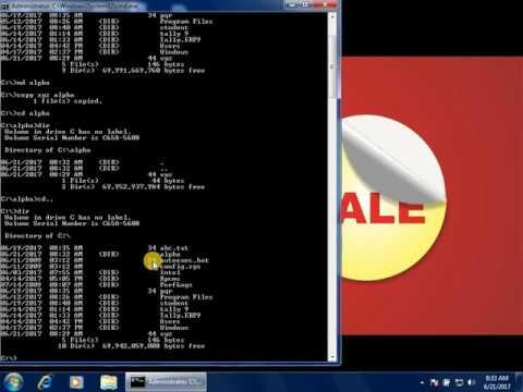 Copy Command In Dos / डोस से फाइल या फोल्डर कैसे कॉपी करे