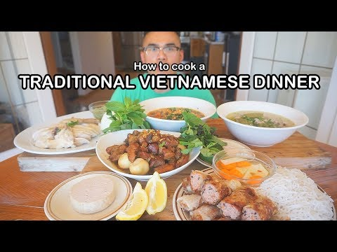 How to cook a TRADITIONAL VIETNAMESE FEAST- hôm nay nấu món ăn việt nam