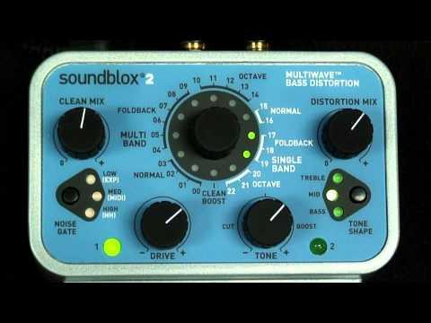 Bass Distortion Pedal Demo: Soundblox 2 Multiwave Bass Distortion
