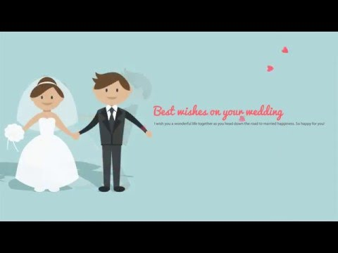 Best wishes on your wedding day ecards 05 youtube for Best day for a wedding