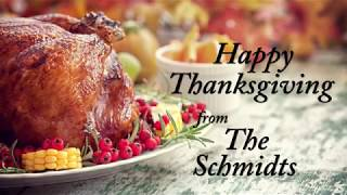 Sen. Schmidt wishes everyone a Happy Thanksgiving