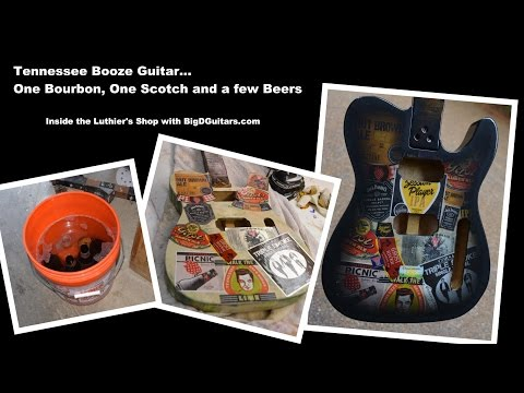 Tennessee Brews and Distillery Custom Label Guitar body DIY Label Guitar