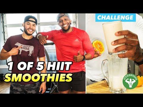 HIIT Smoothie Challenge 1 - Justtrain & Orange Vanilla Protein Smoothie
