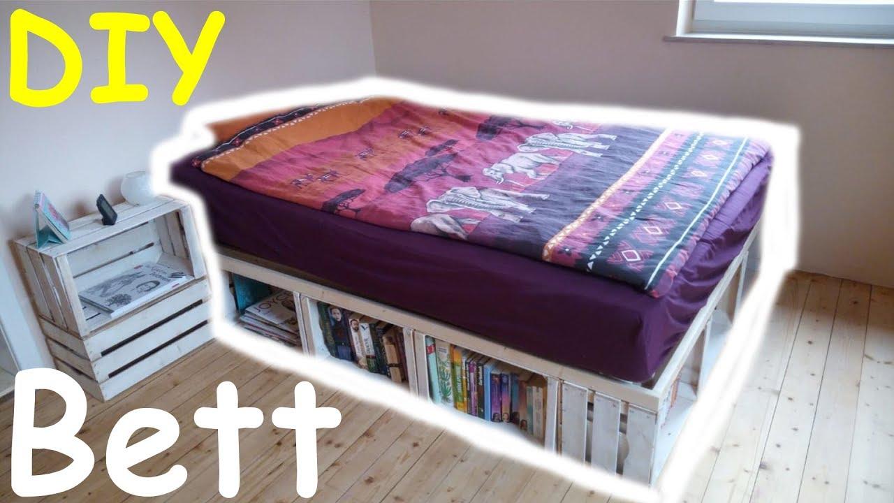 Bevorzugt DIY Bett aus Obstkisten l Vlog l That's Mary - YouTube PR66