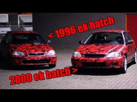 Doing 2 Honda Civic Ek Digital Camo Wraps At Once