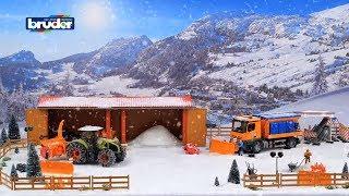 Bruder Toys Claas Axion 950 w/ Snow Chains & Snow Blower - #03017