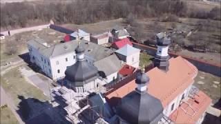 Юровичский монастырь с высоты птичьего полета