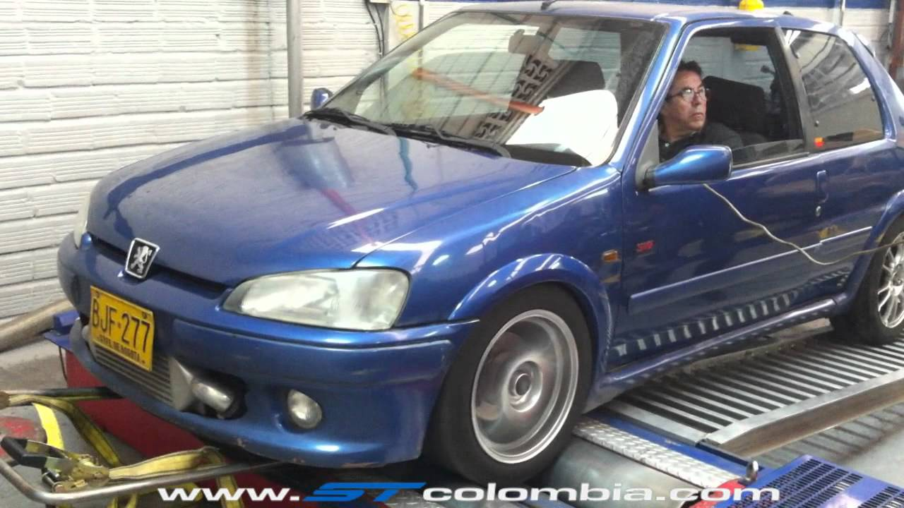 3er dyno day st peugeot 106 s16 turbo youtube. Black Bedroom Furniture Sets. Home Design Ideas