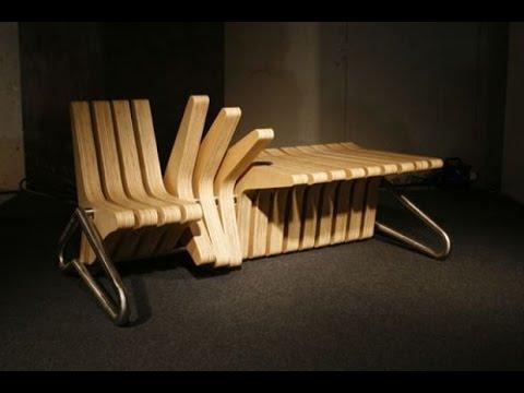 уникальная трансформируемая мебель из дерева