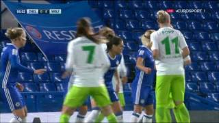 Champions League der Frauen 2016 17 Chelsea   Wolfsburg 1  Halbzeit