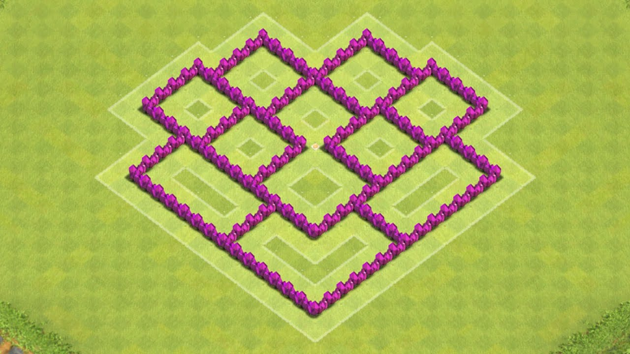 Clash Of Clans Town Hall  Defense Coc Th Best Hybrid Base Layout Defense Strategy Youtube