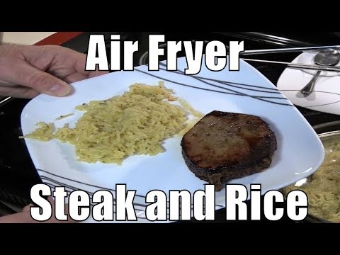 GoWISE USA Air Fryer Round Eye Steak And Rice - Prepare To Be Offended