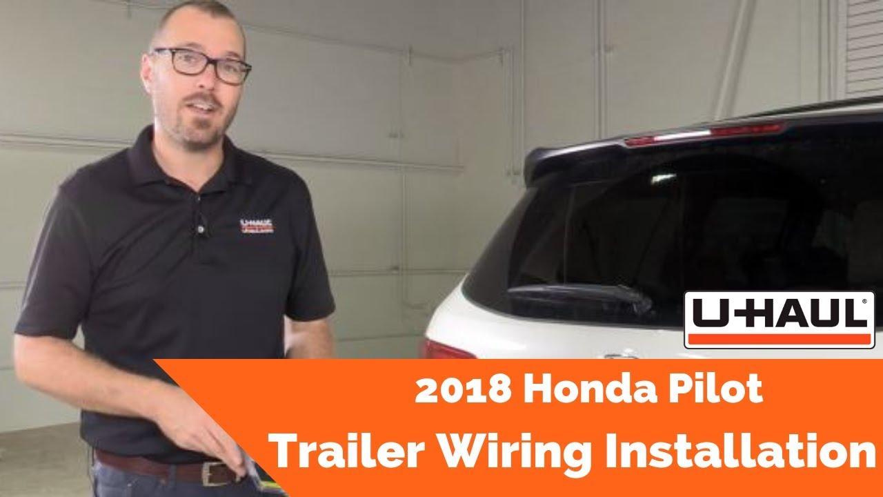 2018 Honda Pilot Trailer Wiring Installation - YouTube