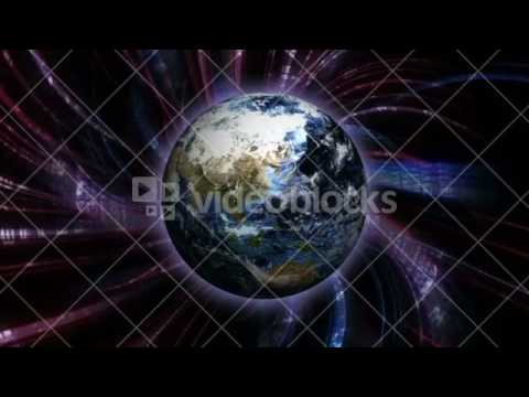 Earth and Abstract Technology Animation Background, Rendering, 3D, CGI, 4k