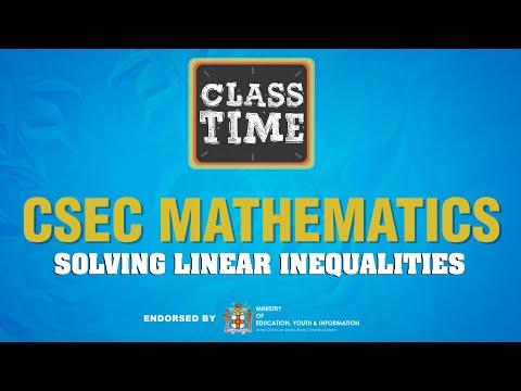CSEC Mathematics - Solving Linear Inequalities - February 24 2021