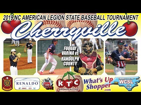 Fuquay Varina Vs Randolph County - NC American Legion Baseball Tournament