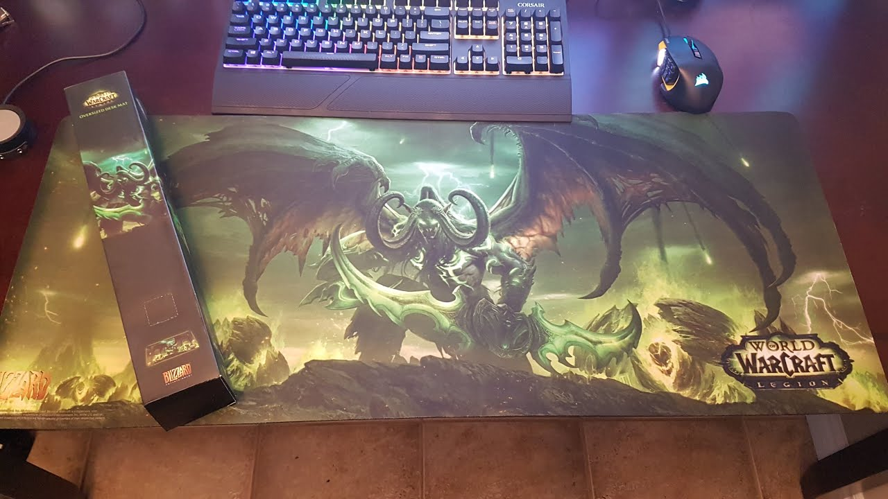 World Of Warcraft Legion Oversized Game Mat Review Youtube