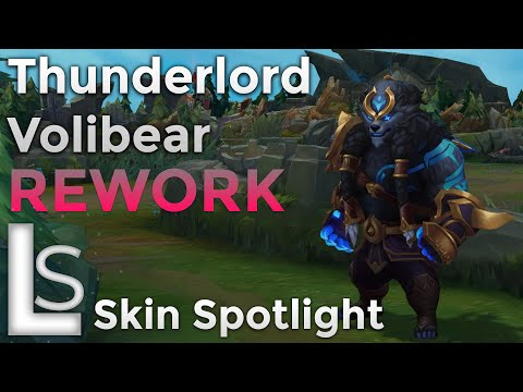 Thunderlord Volibear REWORK - Skin Spotlight - Thunderlord Collection - League of Legends