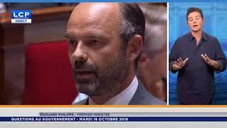 Questions au gouvernement Jean Luc Mélenchon à Édouard Philippe - 16 10 2018