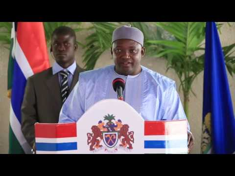 Adama Barrow 1st Press Conference as President of The Republic of The Gambia