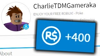 HACKING AND GIVING A FAN FREE ROBUX ON ROBLOX!!
