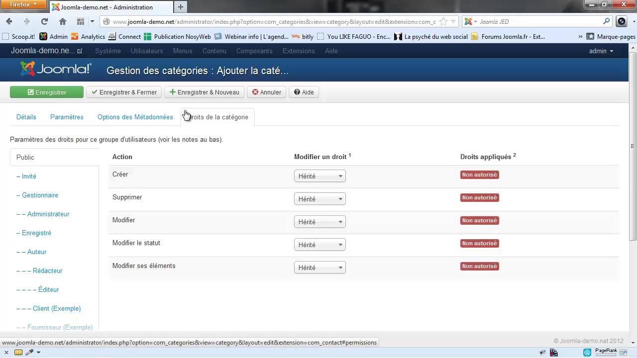 Joomla 3 - Créer un formulaire de contact