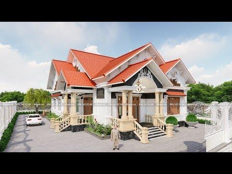 Mẫu Nhà Cấp 4 Đẹp Như Cung Điện Thu Nhỏ Tại Hương Sơn Hà Tĩnh