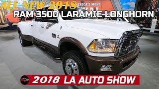 2018 Ram 3500 Mega Cap Laramie Longhorn  Exterior and Interior Walkaround  - 2018  LA Auto Show